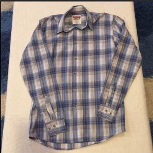 Wrangler Jeans Co. Plaid Long Sleeve Button Down S
